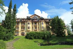 Grand hotel in Stary Smokovec Stock Photos