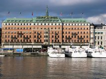 Grand Hotel in Stockholm Stock Photography