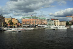 Grand hotel in Stockholm Stock Photos