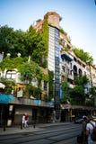 grand Hundertwasserhaus dans Wienna photos stock