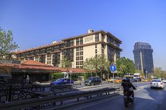 Grand Hyatt und Ritz Carlton Hotels, Taksim, Istanbul Stockbilder