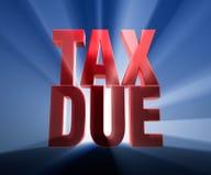 Grand impôt dû illustration stock