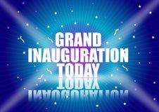 Grand inauguration royalty free illustration