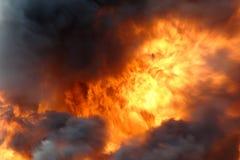 Grand incendie image stock