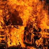 Grand incendie - grand dos photographie stock