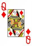 Grand index jouant la reine de carte des diamants illustration de vecteur