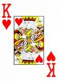Grand index jouant le roi de carte des coeurs illustration stock
