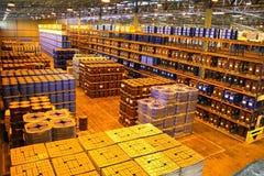 Grand intérieur d'entrepôt Photo stock