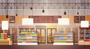 Grand intérieur de centre commercial du marché superbe de boutique illustration libre de droits