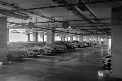 Grand intérieur de parking Image stock
