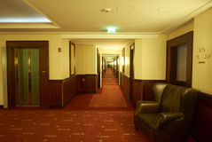 Grand interior in floor of hotel Royalty Free Stock Images