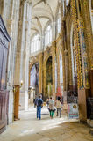 The grand interior of the landmark Saint-Eustache church Royalty Free Stock Photo