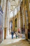 The grand interior of the landmark Saint-Eustache church Royalty Free Stock Photo
