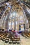 The grand interior of the landmark Saint-Eustache church Stock Photos
