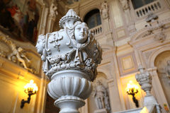 Grand interior at Palazzo Reale Royalty Free Stock Photo
