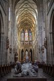 Vitus Cathedral Majestic Interior royalty free stock photography
