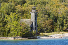 Grand Island E Channel Lighthouse Royalty Free Stock Photography