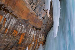 Grand Island Ice Cave Interior Stock Images