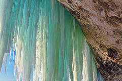 Grand Island Ice Cave Interior Royalty Free Stock Images