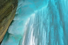 Grand Island Ice Cave Interior Stock Photo