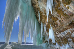Grand Island Ice Cave Royalty Free Stock Photos