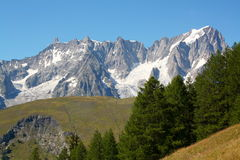 Grand Jorasses and Giant Tooth, mont blanc Stock Images