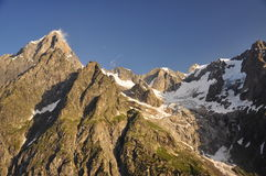 Grand Jorasses massif, Italian Alps, Aosta Valley. Royalty Free Stock Photos