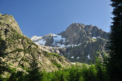 Grand Jorasses massif, Italian Alps, Aosta Valley. Stock Photos