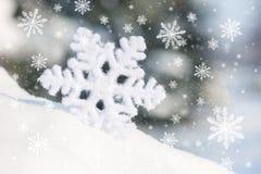 Grand jouet de flocon de neige en congère Photo stock