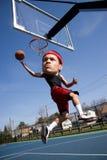 Grand joueur de basket principal Photographie stock libre de droits