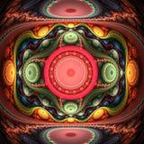 Grand julian fractal flame Stock Photos