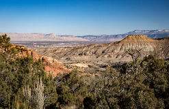 Grand Junction Colorado, Berg Garfield und das Buch Cliff Mount Lizenzfreies Stockbild