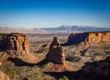 Grand Junction e montagem Garfield como visto do Colorado Nati Fotografia de Stock Royalty Free