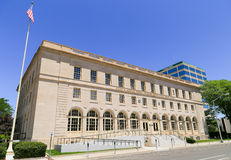 Grand Junction Federal Building. Grand Junction, USA - May 28, 2016: Federal building and United States court house in Grand Junction Royalty Free Stock Photography