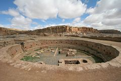 Grand kiva. Chetro Ketl, Chaco Canyon National Historic Park, New Mexico, USA Stock Images