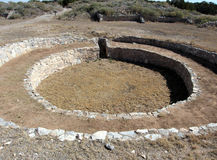 Grand Kiva at Gran Quivira in New Mexico, USA Stock Images