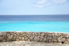Grand Knip Beach in Curacao at the Dutch Antilles. A Caribbean island stock photo