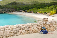 Grand Knip Beach in Curacao at the Dutch Antilles Royalty Free Stock Image