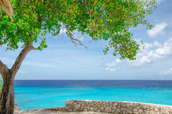 Grand Knip Beach in Curacao at the Dutch Antilles. A Caribbean island royalty free stock images