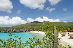 Grand Knip Beach in Curacao at the Dutch Antilles. Curacao, Caribbean - october 1, 2012: Grand Knip Beach in Curacao at the Dutch Antilles, a Caribbean island royalty free stock photography