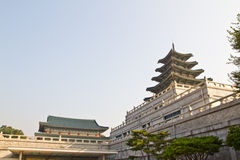 Grand Korean Temple. Korean style, the architectural details of the majestic building Stock Image