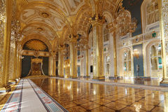 Grand Kremlin Palace. Russia, Moscow, Grand Kremlin Palace - historical old building built from 1837 to 1849, at the present time the ceremonial residence of the stock images