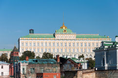 Grand Kremlin Palace on the background of old ruined houses. Royalty Free Stock Image