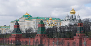 Grand Kremlin Palace and the cathedrals of the Kremlin Royalty Free Stock Photography