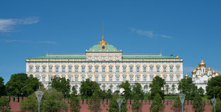 The Grand Kremlin Palace and Kremlin wall Royalty Free Stock Photography