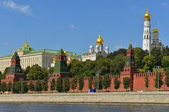 Grand Kremlin Palace in Moscow Kremlin, today official residence of President of Russia. Summer royalty free stock images