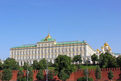 Grand Kremlin Palace in Moscow. On a sunny day Royalty Free Stock Photo