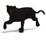 grand léopard de chat noir Photographie stock