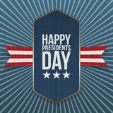 Grand label réaliste heureux de vecteur des Présidents Day Image libre de droits