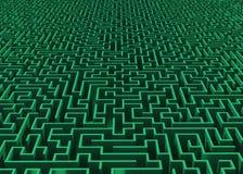 Grand labyrinthe vert à l'horizon Images libres de droits